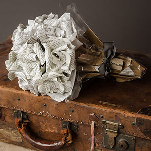 Dozen Literary Paper Roses Bouquet - home accessories