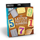 Letter Pressed Number Cookie Cutters