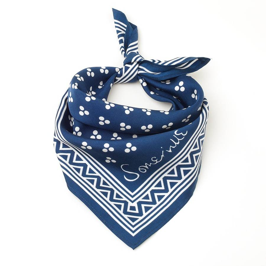 small silk square scarf cowboy by somerville scarves
