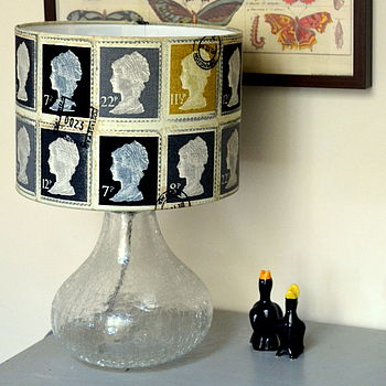 Postage Stamp Lampshade Greys