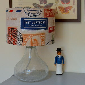Airmail Lampshade - lamp bases & shades