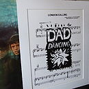 Personalised 'Dad Dancing' Sheet Music Print