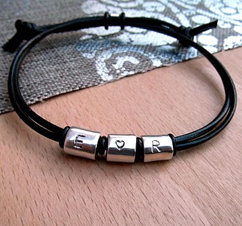 Love Heart Silver Scroll Bracelet