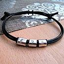 Love Heart Silver Scroll Bracelet