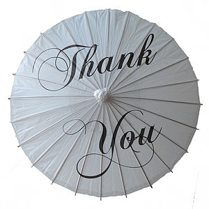 'Thank You' Wedding Paper Parasol - view all sale items