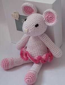 Hand Crochet Ballerina Mouse - woodland trend