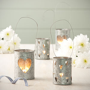 Zinc Tea Light Lanterns - christmas home accessories
