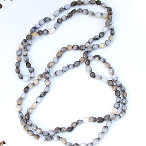 African Seed Bead Long Necklace