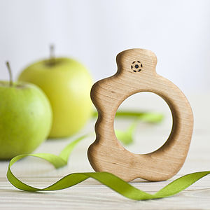 Organic Teether Apple - traditional toys & games