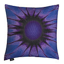 Violet Sunflower Cushion