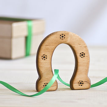 Lucky Wooden Horseshoe Teether
