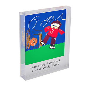 Personalised Child's Drawing Acrylic Block - picture frames for children