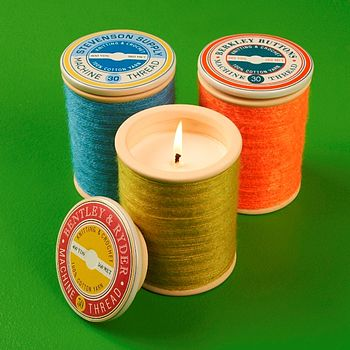 Large Cotton Reel Candle
