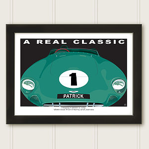 Personalised Classic Car Aston Martin Print