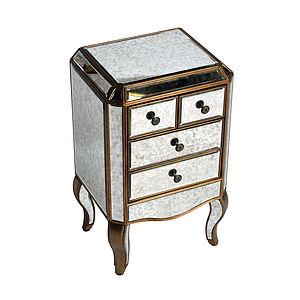 Antiqued Venetian Bedside Table - bedroom