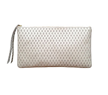Monmouth Cream Leather Clutch