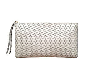 Monmouth Cream Leather Clutch - bags
