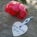 'Something Blue' Wedding Hanging Heart