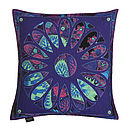 Botanic Violet Cushion