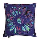 Botanic Violet Cushion