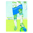 Personalised Father's Day Footballer Card