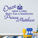 'Once Upon A Time… Prince' Wall Sticker