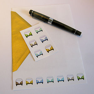 Campervan Stationery Set Neutral Colours
