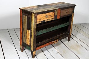 Mary Rose Upcycled Wine Rack Sideboard - furniture