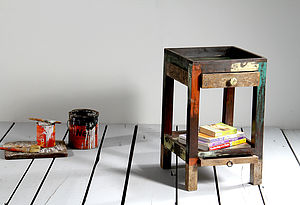 Mary Rose Upcycled Side Table - furniture