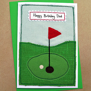 Personalised Golf Mens Birthday Card