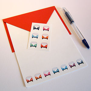 Campervan Stationery Set Vibrant Colours