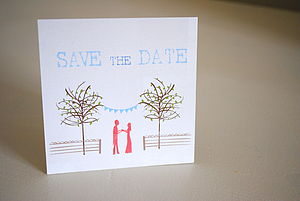 Illustrated Bunting Save The Dates