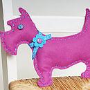 'Make & Sew' Funky Felt Pink Dog Sewing Kit