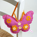 Thumb felt hanging butterfly craft kit