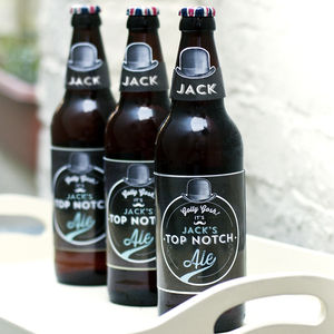 Personalised Printable Beer Labels - wedding favours