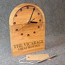 Personalised Wedding Or Anniversary Oak Clock