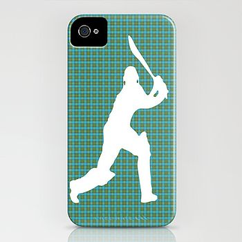 Cricketer On Phone Case