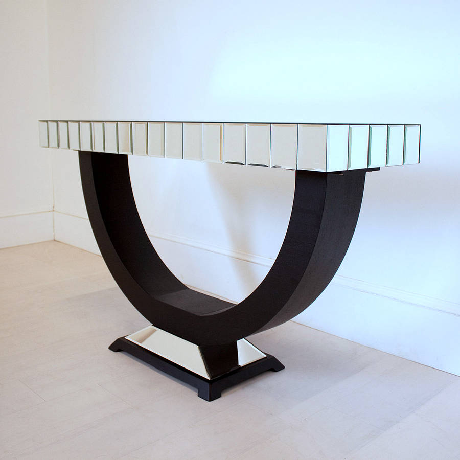Art deco console table by out there interiors notonthehighstreet art deco console table geotapseo Image collections