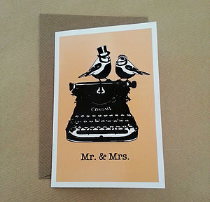 Vintage Birds Wedding Invitations