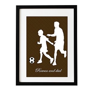 Playing Football Father's Day Gift Print