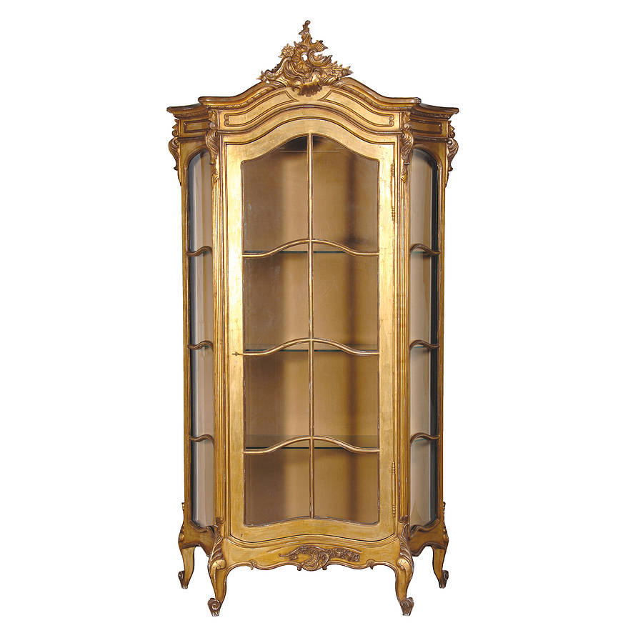 Gold Showcase Cabinet By Out There Interiors