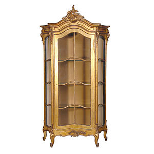 Gold Showcase Cabinet - furniture
