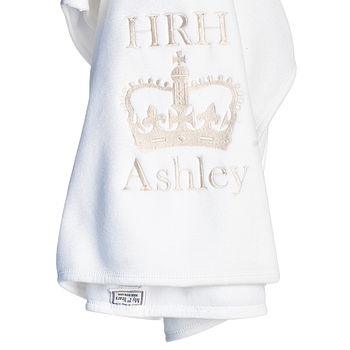 Personalised 'HRH' Fleece Blanket