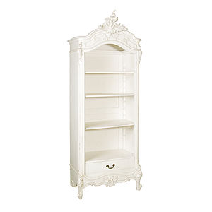 Large White French Open Bookcase