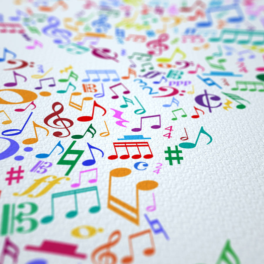 Music notes map of the world by artpause notonthehighstreet close up canvas detail gumiabroncs Gallery