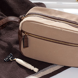 Leather Comestic Bag - wash & toiletry bags