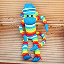 Bright Blue sock monkey
