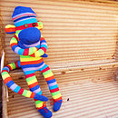 Dark Blue Sock Monkey