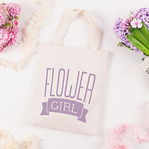 'Flower Girl' Mini Cotton Bag - wedding thank you gifts
