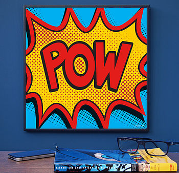 Comic Book Word Art Print